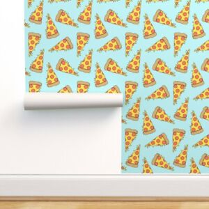 Peel-and-Stick Removable Wallpaper Pizza Food Junk Pizzas 90S Party