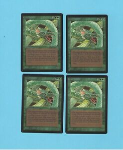 MTG Beta Craw Wurm x1 each bid is for 1 of the pictured cards