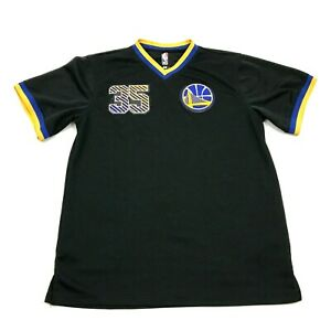 NBA GOlden State Warriors Kevin Durant Dry Fit Shirt Youth Size XL 18 20 Black T $17.26