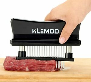 Meat Tenderizer Tool - 48 Ultra Sharp Needle Stainless Steel Blades Kitchen Tool