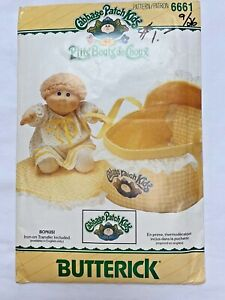 Cabbage Patch Kids Sewing Pattern 1984 Butterick6661 Baby Carrier Blanket Pillow $10.00