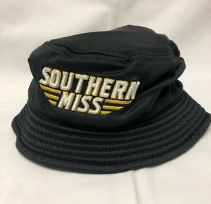 UNDER ARMOUR Golf Elements Black Bucket Hat Size Small Southern Miss Logo EUC $14.99