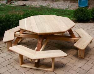 Plans to build a Octagon Picnic Table DIY