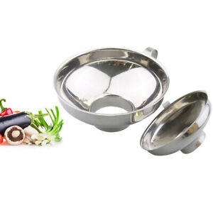 Stainless-Steel Wide Mouth Canning Jar Funnel Cup Hopper Filter Kitchen 1 X