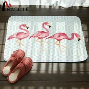 Miracille Coral Fleece Creative Pink Flamingo Pattern Home Decor Stair Outdoor
