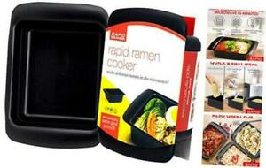 Rapid Ramen Cooker - Microwave Ramen in 3 Minutes - BPA Free and 1 Pack Black