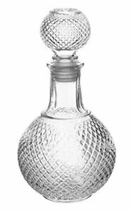 Vintage Clear Glass Scotch Whisky Decanter Bottle & Ball Airtight Stopper, 8 oz