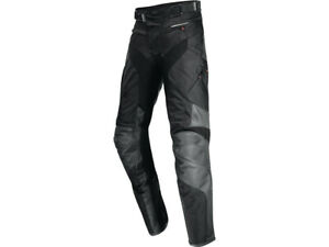iXS Leather Trousers Madeira Black Grey Biker Made of Cowhide And Tissue $243.39