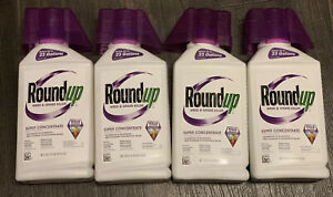 Lot Of 4 ROUNDUP WEED GRASS KILLER SUPER CONCENTRATE 35.2oz MAKES 23 GALLON Each