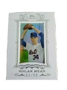 Nolan Ryan 2007 Topps Sterling White Suede Silver Parallel 50 Mets