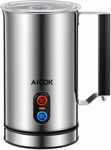 Aicok Milk Frother - Stainless Steel Electric Milk Steamer for Hot or Cold Milk