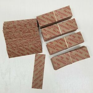 400 Coin Wrappers FLAT Tubular Paper Rolls for PENNIES Each roll holds .50 cents