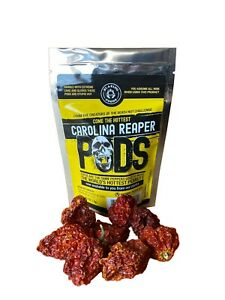 Carolina Reaper Pepper whole pods 1 4 oz worlds hottest hotter than Ghost Pepper