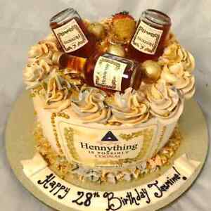 Hennessy Cake Topper Edible Hennessy Cake Image Hennything Is Possible