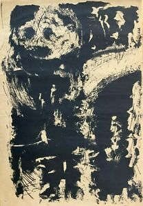 Lithograph by Antonio Canet. Untitled 1964. Original signed. Limited Edition.