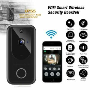 Wireless Smart WiFi Door Bell IR Video Visual Camera Intercom Home Security USA