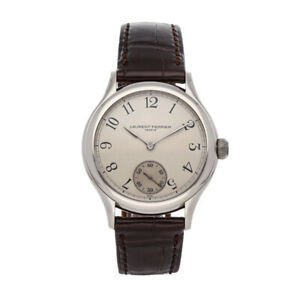 Laurent Ferrier Galet Micro-Rotor White Gold Auto 40mm Strap Tang Mens LCF004.G1