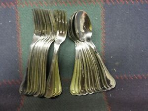 24 pc. Stainless Flatware - USA - Forks & Spoons 7 in. - Pearl Pattern, NEW 2nd