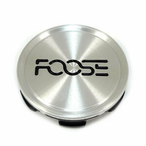 Foose 1003 22 07GRBL 2.7 Wheel Rim Center Hub Cap Brushed Silver w Black Logo
