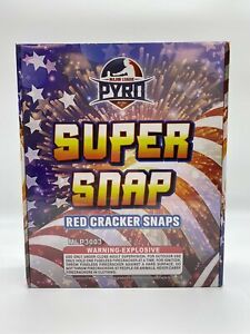 100 Super Snap Red Cracker Snaps - Adult Snaps