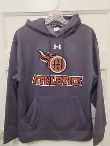 Under Armour Men Size Small Gray Loose Fit Hoodie With Logo $13.99