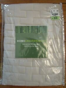 Home Environment Standard Quilted Pillow Sham 100% Rayon Bamboo Beige Soft