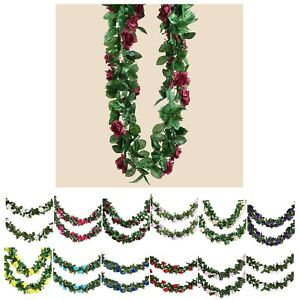 6 FT Long 3D Rose Chain Garland Wedding Party Decoration Supply