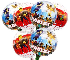 (6) pcs Roblox Video Game Double Sided Balloons Birthday Party Supplies