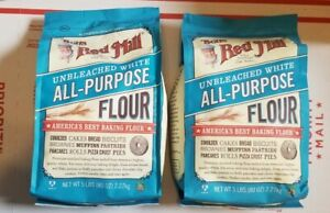 2 x Bob's Red Mill Unbleached White All-Purpose Flour 5 Lb each  FREE SHIPPING!