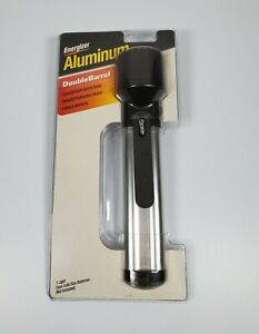 Vintage Energizer Aluminum Double Barrel Flashlight- New in Package.  Rare!