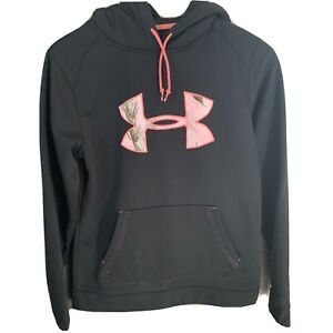 Under Armour Ladies Womens Hoodie Black Pink Camo Small $11.50