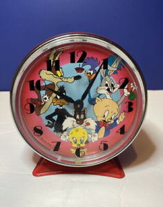 Vintage Looney Tunes Moving Tweety Alarm Clock 1989 Works