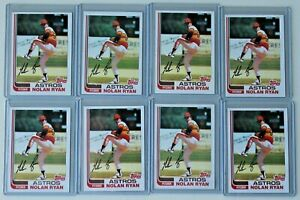 1982 Topps NOLAN RYAN # 90 Houston Astros LOT of 8