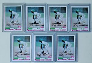 1982 Topps RICKEY HENDERSON #610 Oakland A's LOT of 7