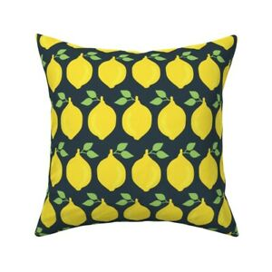 Food Lemons Yellow Healthy Throw Pillow Cover w Optional Insert by Roostery