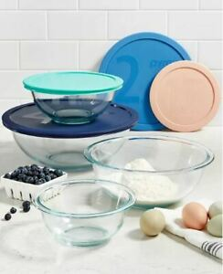 *NEW* Pyrex 8 Piece Smart Essentials Glass Mixing Bowl  Set - (FREE SHIPPING)