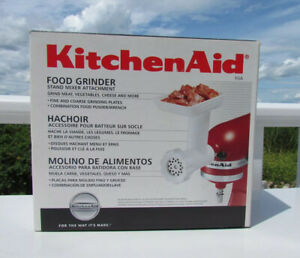 NEW KitchenAid food meat grinder Stand Mixer attachment accessory plastic metal