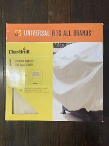NEW Char-Broil Universal Vinyl Grill Cover Large 62 Inches Fits All Brands Tan