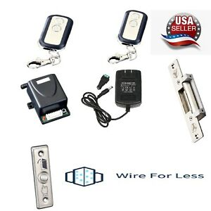 Door Access Control System With Electric Strike Lock for Metal / wood Frame DIY