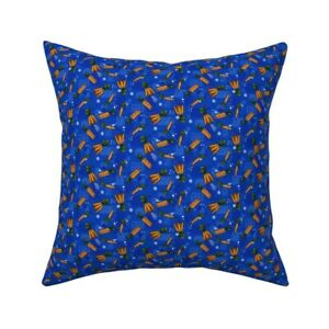 Carrot Vegetable Veggie Food Throw Pillow Cover w Optional Insert by Roostery