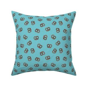 Pretzels Food Germany Boys Throw Pillow Cover w Optional Insert by Roostery