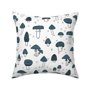 Food Cooking Kitchen Mushroom Throw Pillow Cover w Optional Insert by Roostery