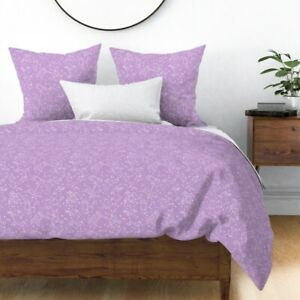 Purple Galaxy Constellation Stars Astronomy Sateen Duvet Cover by Roostery