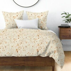 Tortilla Burrito Food Mexican Beige Rocks Wrap Sateen Duvet Cover by Roostery