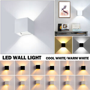 Modern LED Wall Light Waterproof Exterior Up Down Cube Sconce Lamp Fixture 6W US