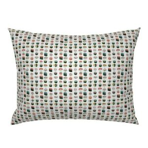 Kawaii Sushi Cute Food Japanese Food Healthy Emotions Pillow Sham by Roostery