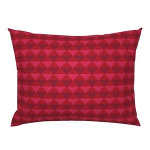 Mexican Temple Chilli Chipotle Red Coral Pink Geometric Pillow Sham by Roostery