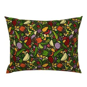 Mexican Food Bright Vegetables Cooking Ingredients Pillow Sham by Roostery