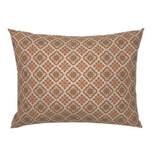 Spanish Mexican Earth Tones Fall Geometric Abstract Pillow Sham by Roostery