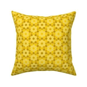 Honey Honeycomb Food Hexagon Throw Pillow Cover w Optional Insert by Roostery